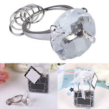 Clear Super Big Fake Diamond Crystal Ring Keychain Wedding Favors Easy to Use