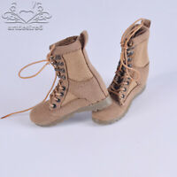1/6 Soldier Desert Combat Boots Model Sand Shoes Lace Up Fit 12'' Body Figure