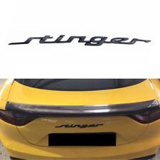Black Stinger Letter Car Rear Trunk Lid Emblem Badge for Kia Stinger 2018-2020