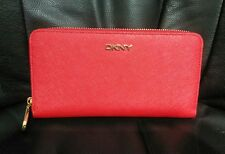 DKNY  Saffiano Large Zip Around Wallet Red  ---As New
