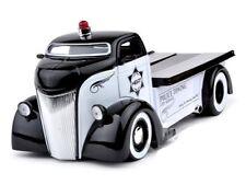 JADA 1:24 HEAT W/D 1947 FORD COE FLAT BED TOW TRUCK POLICE DIECAST CAR