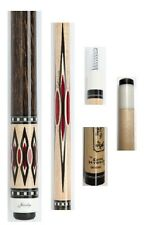 Jacoby Custom Cue 0315-83 HB6 - Birdseye & Black Palm, 12.75mm Edge Hybrid
