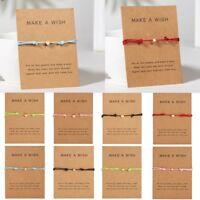 Simple Charm Bracelet Adjustable Rope String Lucky Bracelet Heart Star For Women