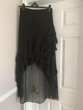 New Size 8 Black Coast Ruffle Long Skirt