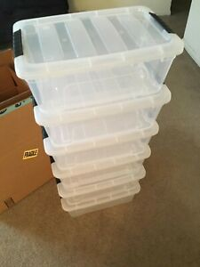 IRIS USA TB Clear Plastic Storage Bin Tote Organizing Container with Durable Lid