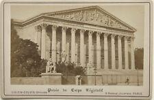 Le Palais Bourbon Paris Photo Vintage Albumine vers 1880