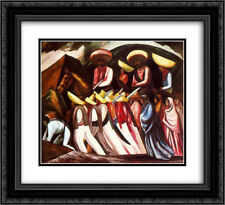 Jose Clemente Orozco 2x Matted 24x20 Framed Art Print 'Zapatista's Marching '