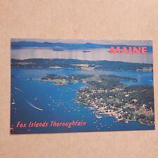 Vintage Postcard Fox Island Thoroughfare, Maine