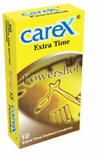20 CONDOMS OF CAREX EXTRA TIME POWERSHOT DOTTED CONDOM - FREE WORLDWIDE SHIPPING