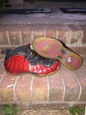 2012 Nike Foamposite One Varsity Red White Black Sz 9.5 314996-610 semi beaters