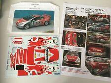 decal neuve 1/24 Peugeot 307 wrc 06 Thiry Jamoul Total rally Condroz Renaissance