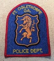 GA Ft. Oglethorpe Georgia Police Patch