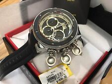 22939 Invicta Reserve Subaqua Sea Dragon Men's 52mm Quartz Leather Strap Watch