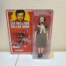 "Six Million Dollar Man Fembot  8"" Action Figure - Bif Bang Pow 2012"