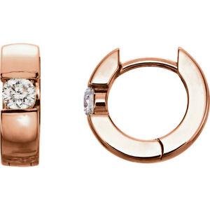 Diamante Articulado Pendientes 14kt Oro Rosa ( 1/4 Ct. Tw