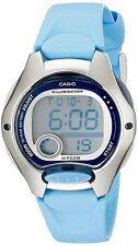 Casio Women's Digital 10-Yr Battery Life Silver Tone/Blue Resin Watch LW200-2BV