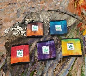 Hemp Bi-fold Tie-Dye Wallet|Boho Hippie Wallet|Men's Handmade Hemp Wallet