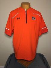 Under Armour Auburn Tigers 1/4 Zip Short Sleeve Reflective Pullover Men's Size M