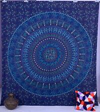 Decorative Throw Bedding Decor Elephant Mandala Queen Wall Hanging Blue Tapestry