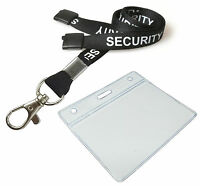 Security Neck Strap Lanyard Metal Trigger Clip & ID Pocket Pouch FREE POST lot