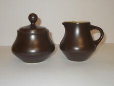 Noritake Folkstone Stoneware Milk Jug Creamer and Lidded Sugar Bowl Lovely