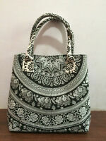 Mandala Tote Bag Shoulder Handbag Cotton Women's Satchel Purse Lady Indian