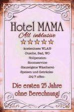Hotel Mama Motiv 2 Blechschild Schild gewölbt Metal Tin Sign 20 x 30 cm