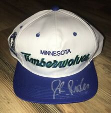 Minnesota Timberwolves Isaiah JR Rider Signed Sports Specialties Script NBA Hat