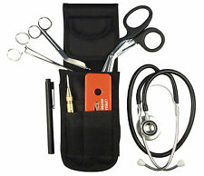 EMT EMS PARAMEDIC RESCUE TOOL KIT SHEARS STETHOSCOPE PENLIGHT FORCEPS & POUCH