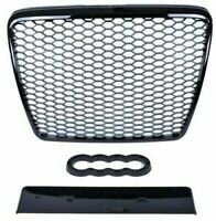 AUDI A6 C6 4F RS STYLE 2004-2011 GLOSS BLACK HONEYCOMB DEBADGED MESH SPORT GRILL