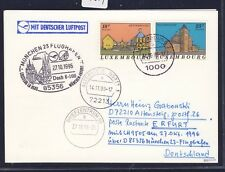 55874) LH FF München - Erfurt 27.10.96, Karte ab Luxemburg