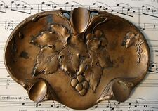 Antique French Art Nouveau Bronze Tray (grapevines) c.1900