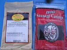 Polish Kielbasa Sausage Seasoning for 25 Lbs of meat And Natural hog casings