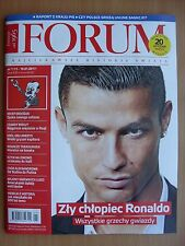 CRISTIANO RONALDO on front cover Polish Magazine FORUM 1/2017 in.Ana Ivanovic