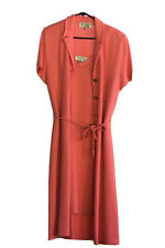 ST JOHN COLLECTION 2 PIECE KNIT TANK DRESS AND JACKET COAT CORAL PINK 12 10 XL
