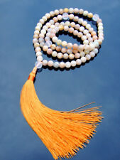 More details for sunstone/crystal natural gemstone mala necklace prayer healing stone chakra