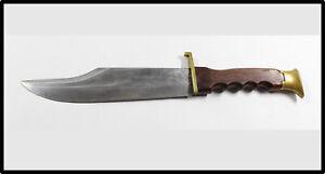 Vintage German Solingen Original Bowie Knife HUGE NICE leather sheath LOOK