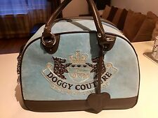 Juicy Couture Dog Carrier Doggy Couture Blue Bag Tote