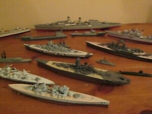 Triang Minic Die cast Battle ships , Submarines etc