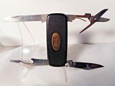 Vtg Utility KNIFE Molybdenum Japan Personal Care 5 Tools Flat Folding Pocket