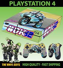 PS4 Skin Danny Kent 52 Leopard Team Moto GP Bike Sticker + Pad decals Vinyl LAID