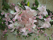 Pink Casablanca Silk Flowers Memorial Cemetery Grave Pillow Sympathy Spray