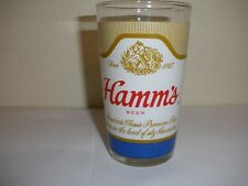 Vintage Hamm's Beer Glass Tumbler Wraparound with the older GOLD Graphics Lion