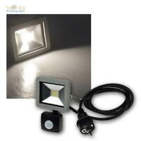 LED Fluter SlimLine mit Bewegungsmelder, Flutlichtstrahler 10/30/50W, Hoflicht