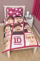 One Direction 'Boyfriend' Reversible Rotary Single Bed Duvet Quilt Cover Set