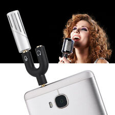 Pro Condenser Microphone Mic Recording w/ 1-2 Adapter for iPhone/iPad/Android TH