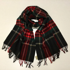 J.Crew Tartan Scarf In Red Black Green NWT Made In Italy