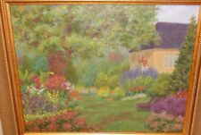 ORIGINAL OIL ON BOARD HOUSE LANDSCAPE PAINTING