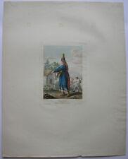 Tschermissin Tschermissen Wolga-Finnen Russland Orig Farblithografie 1840 Mari