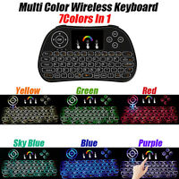 Wireless Touchpad Keyboard Mini Colorful Backlight Air Mouse PC Android TV Box